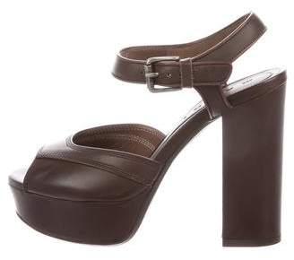 Marni Peep-Toe Platform Sandals