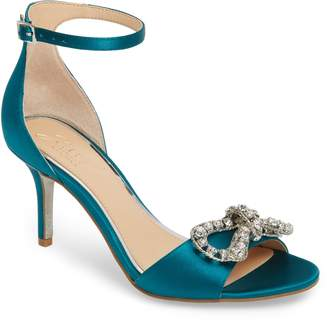 Badgley Mischka Miguela Crystal Bow Sandal