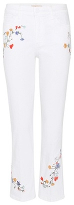 Tory Burch Carson embroidered cropped jeans