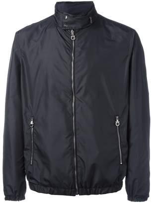Salvatore Ferragamo band collar double-sided jacket
