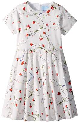 Lanvin Kids Bloom Short Sleeve Dress Girl's Dress