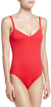 Seafolly Goddess V-Neck One-Piece Swimsuit $132 thestylecure.com