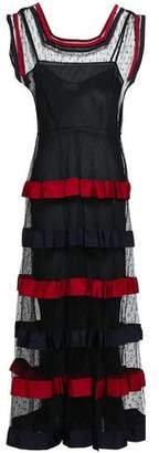 RED Valentino Ruffled Point D'esprit Midi Dress