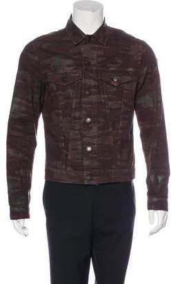 J Brand Gorn Trucker Camo Denim Jacket