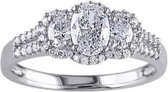 Affinity Diamond Jewelry Oval & Round Diamond Ring, 9/10 cttw, 14K Gol dby Affinity