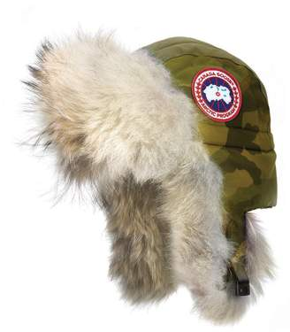 d4e57462ede2c ... Canada Goose Aviator Hat with Genuine Coyote Fur Trim