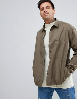 HUGO Overshirt In Khaki