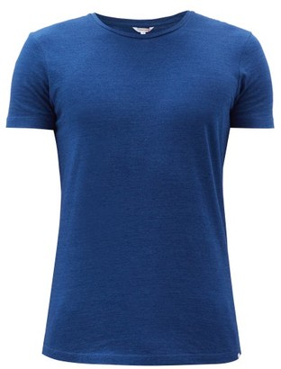 Orlebar Brown Ob T Cotton Jersey T Shirt - Mens - Dark Blue