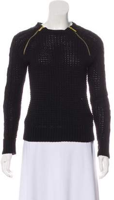 MICHAEL Michael Kors Zip-Accented Cable Knit Sweater