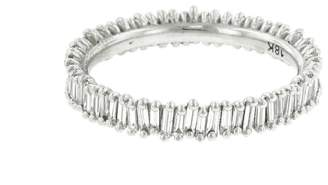 Suzanne Kalan White Diamond Baguette Eternity Ring - Rose Gold