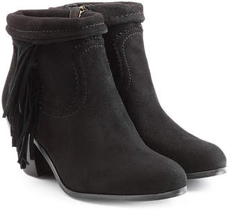 Sam Edelman Suede Ankle Boots with Fringe