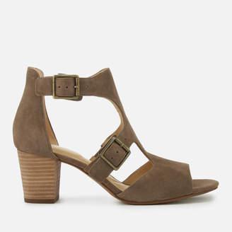 Clarks Women's Deloria Kay Suede Block Heeled Sandals