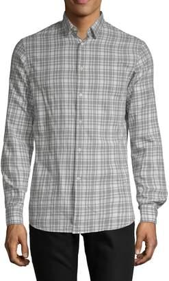 J. Lindeberg Plaid Cotton Button-Down Shirt