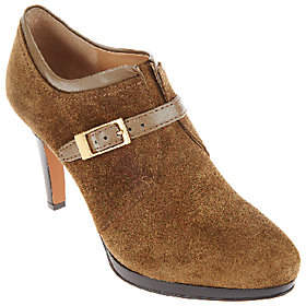 Franco Sarto Suede Booties with Buckle Detail- Sabelle