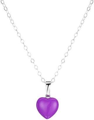 Jo for Girls Purple Enamel Heart Pendant