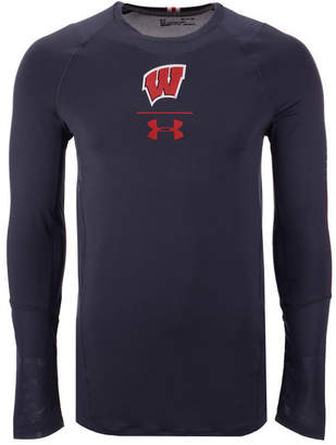 Under Armour Men Wisconsin Badgers Long Sleeve Raid Training T-Shirt