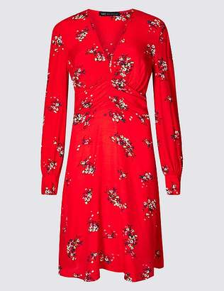 Marks and Spencer Floral Print Long Sleeve Tea Mini Dress