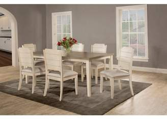Hillsdale Furniture Clarion Seven (7) Piece Rectangle Dining Set with Side Chairs, Sea White