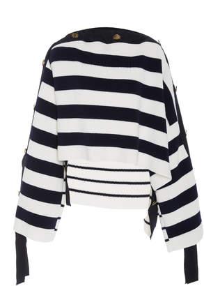 Monse Grosgrain Mariniere Cotton Pullover