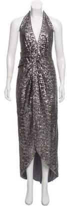 Halston Sleeveless Sequin Gown