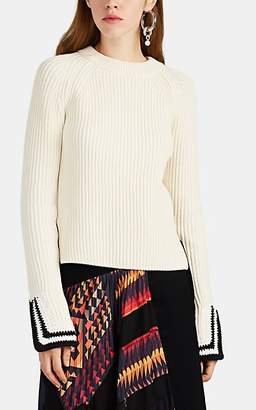 Helmut Lang Women's Cotton-Blend Crewneck Sweater - Neutral