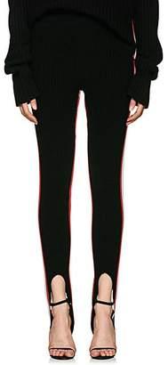 Calvin Klein Women's Striped Wool-Blend Stirrup Pants - Black Red White
