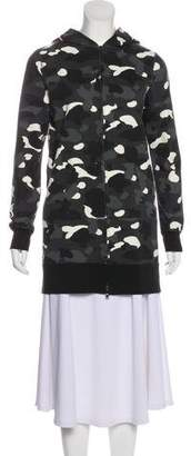 A Bathing Ape Long Glow in the Dark Camo Shark hoodie