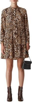 Whistles Leopard Print Shirtdress