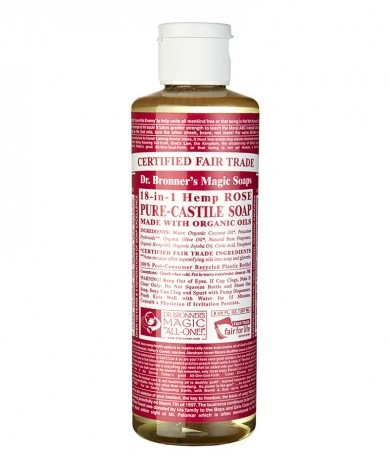 Dr. Bronner Castile Rose Liquid Soap