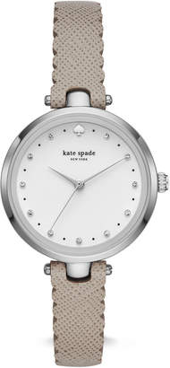 Kate Spade Women's Holland Gray Leather Strap Watch 34mm