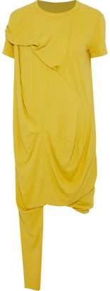 Rick Owens Asymmetric Draped Cotton-Jersey Dress