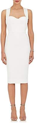 Victoria Beckham Women's Crossover-Back Sheath Dress - White
