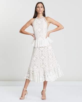 Lover Violet Lace Midi Dress