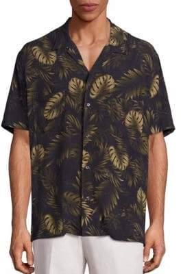 Vince Cabana Tropical Print Shirt