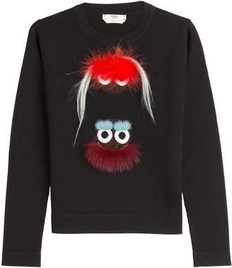 Fendi Embellished Wool Pullover