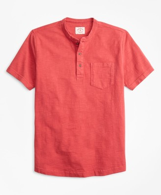 Brooks Brothers Short-Sleeve Slub Cotton Jersey Henley