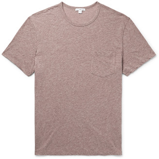 James Perse Melange Cotton-Blend Jersey T-Shirt - Men - Pink