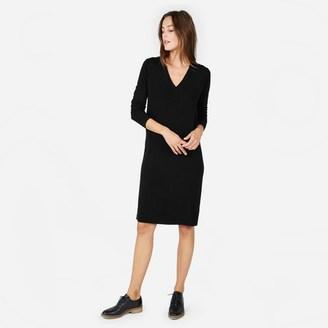 The Cashmere V-Neck Midi Dress