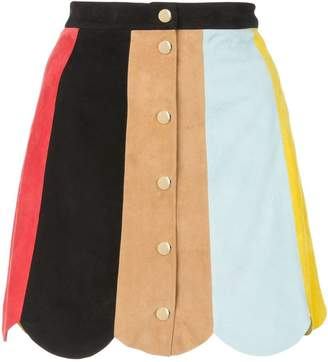 Alice + Olivia Alice+Olivia colour-block mini skirt