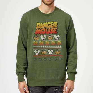Danger Mouse Pattern Knit Sweatshirt