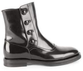Alexander McQueen Patent Leather Flat Boots