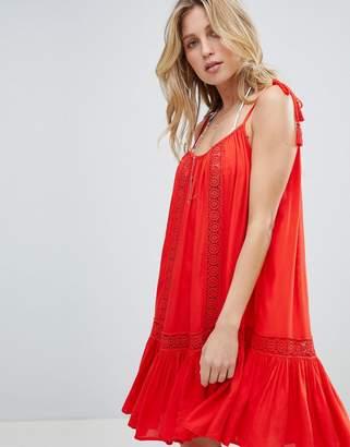 Accessorize Lace Insert Strappy Beach Dress