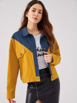Shein Drop Shoulder Cut and Sew Jacket