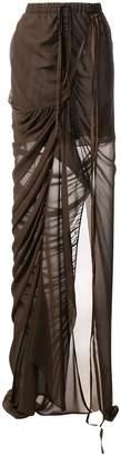 Vera Wang draped skirt