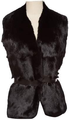 Celine Black Rabbit Scarves