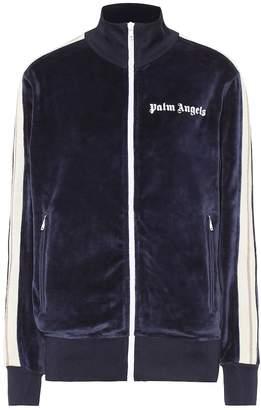 Palm Angels Logo velour track jacket