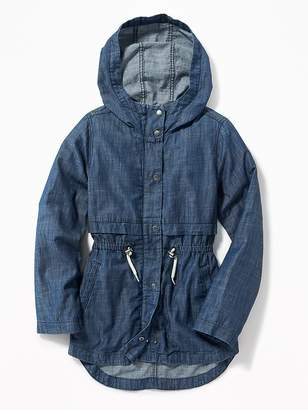Old Navy Fittted Chambray Field Jacket for Girls