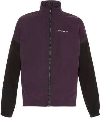 Givenchy Dark Purple Colorblock Windbreaker