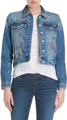 Superdry Paint-Splattered Girlfriend Jean Jacket
