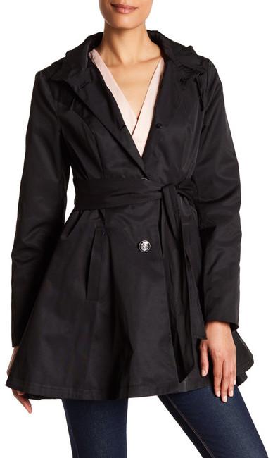 Betsey JohnsonBetsey Johnson Tie Waist Fit & Flare Rain Coat